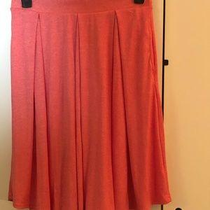 LulaRoe Large Lola Coral Skirt